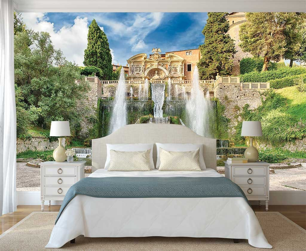 Peel And Stick Wall Decor Wall Mural Italy Fountain Of