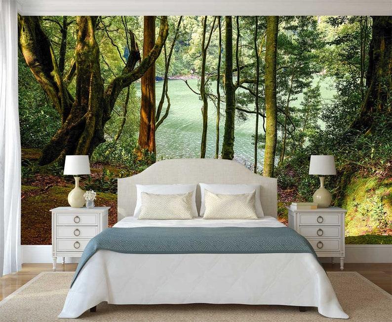 Tapety Drzewa Góry Naklejki ścienne Leśne Tapety Leśne Naklejki ścienne Natura Wall Mural Las ściany Przyrody I Trzymać Skórki