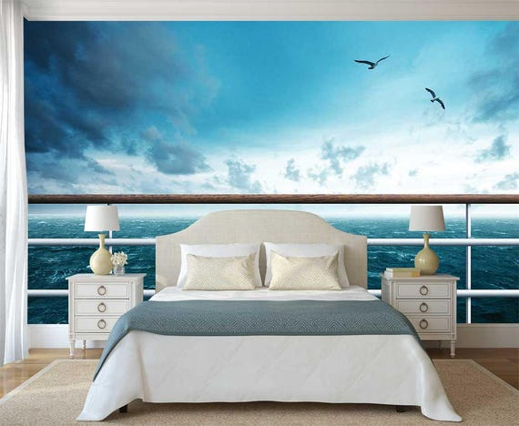 Wall Mural Ocean Theme Ship Wallpaper 3d Wall Decal Ocean Wallpaper Wall Decal Romantic