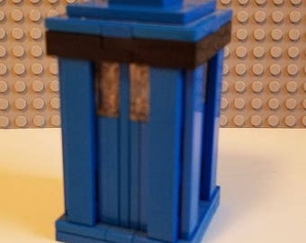 Custom Lego Doctor Who Tardis - Lights Up