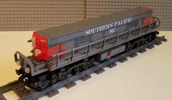 ----Please Read Item Description Lego Train Custom Burlington Northern GP9