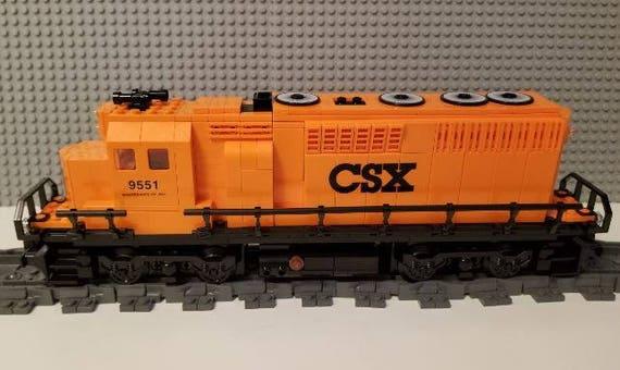 ----Please Read Item Description Lego Train Custom CSX Orange GP40