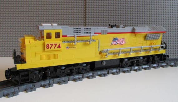 custom lego train union pacific es44ac etsy