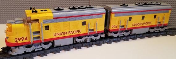 custom lego train union pacific f7 a b units etsy