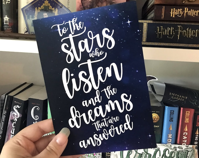 ACOMAF Print, A Court of Thorns and Roses Art, Rhysand, Feyre, Feysand, To the stars, Rhysand Quote, Bookish Print, Sarah J Maas Quote