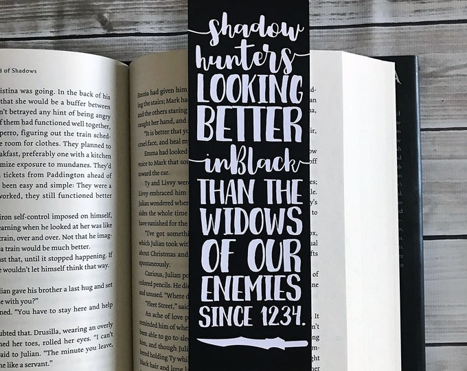Shadowhunters Bookmarks, Jace Herondale Quote, The Mortal Instruments Bookmark, Clary Fairchild Quotes, TMI Bookmark, Bookish Bookmark