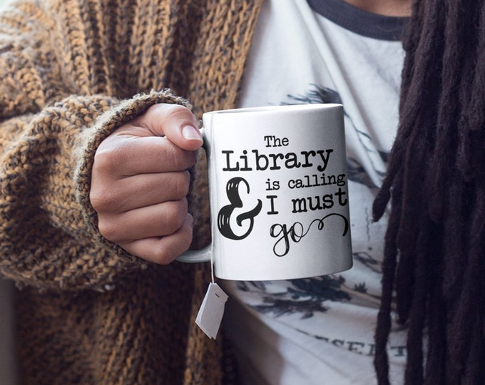 Book Lover Mug, Gift for Bookworm, Librarian Gifts, Gifts for Readers, Bibliophile, Bookshelf Decor, Bookstagram Prop, Bookish Gifts