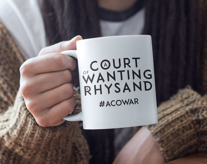 ACOWAR Mug, A Court of Wings and Ruin Mug, Rhysand Mug, Bookish Mug, Book Mug, Sarah J Maas Mug