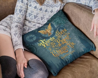 Infernal Devices Pillow Case, Words have the power to change us, Tessa Gray, Will Herondale, Clockwork Angel, Cassandra Clare
