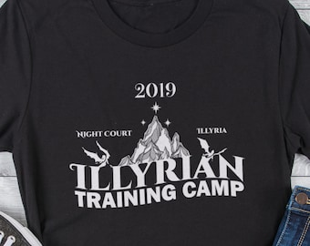 2019 Illyrian Training Camp Shirt, Illyrian Warrior, Nesta, Cassian, Thorns and Roses, Rhysand, Azriel, Night Court, Nessian, Sarah J Maas