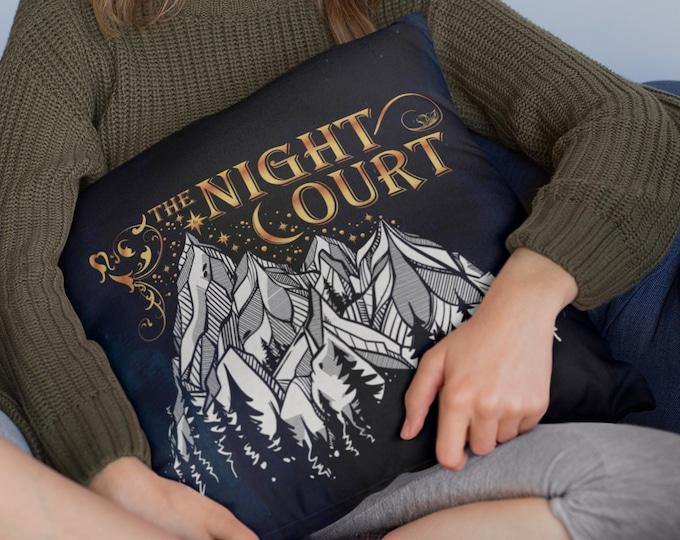 Night Court Pillow Cover, A Court of Mist and Fury, Pillow Case, Rhysand, Feysand, Court of Dreams, ACOMAF, Sarah J Maas, ACOTAR Pillow