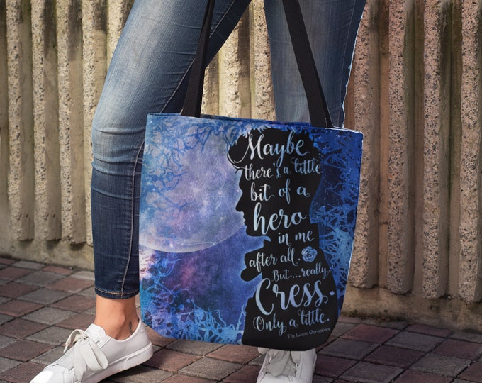 Thorne Lunar Chronicles Tote Bag, Carswell Thorne, Cress, Cresswell, Marissa Meyer, Cinder, Scarlet, Captain Thorne, Bookish Bag
