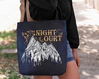 A Court of Thorns and Roses, Night Court, Rhysand, Feyre, Feysand, Court of Dreams, Sarah J Maas, Tote Bag, Bookish Bag, Heavy Duty Tote Bag