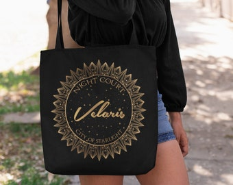 Velaris A Court of Mist and Fury, City of Starlight, Night Court, Rhysand, Feyre, ACOTAR, Court of Dreams, Sarah J Maas, Bookish Tote Bag