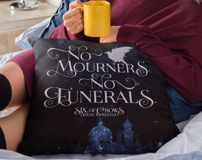 Six of Crows Pillow Case,  No Mourners No Funerals, Crooked Kingdom, Kaz Brekker, Inej Ghafa, The Dregs,  Ketterdam, Grisha, Leigh Bardugo