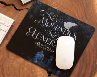 Six of Crows Mouse Pad, Kaz Breker, Inej Ghafa, Leigh Bardugo, Bookish Decor, Krooked Kingdom, Grishaverse