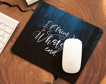Rowaelin Mouse Pad, Throne of Glass, To Whatever End, Fireheart, Rowan Whitethorn, Aelin Galathynius, Sarah J Maas, Bookish Office Decor