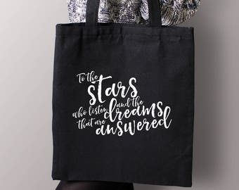 A Court of Mist and Fury Tote Bag, A Court of Thorns and Roses Bag, ACOMAF, ACOTAR, Bookish Tote Bag, Sarah J Maas, Rhysand, Feysand