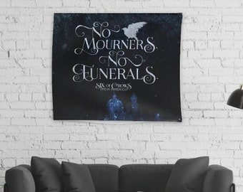 Six of Crows Wall Tapestry, Kaz Brekker, Grishaverse, Krooked Kingdom, Inej Ghafa, Leigh Bardugo, Bookish Decor
