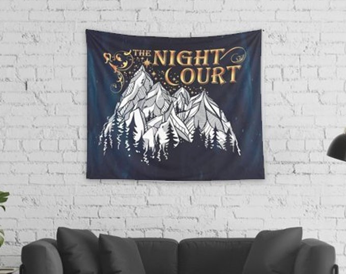 Night Court Wall Tapestry, A Court of Mist and Fury Merch, Rhysand and Feyre, Sarah J Maas Merch, ACOTAR Tapestry