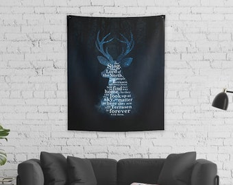 Throne of Glass Wall Tapestry, Terrasen Stag, Lord of the North, Aelin Galathynius, Kingdom of Ash, Sarah J Maas