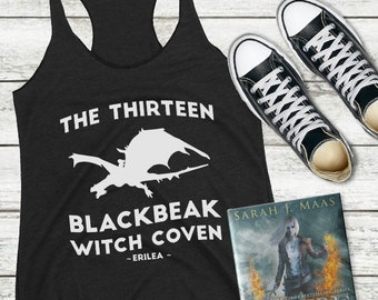 The Thirteen Throne of Glass Tank Top, Blackbeak Witch Coven, Throne of Glass, Manon Blackbeak, Asterin, Irontheet Witches, Halloween