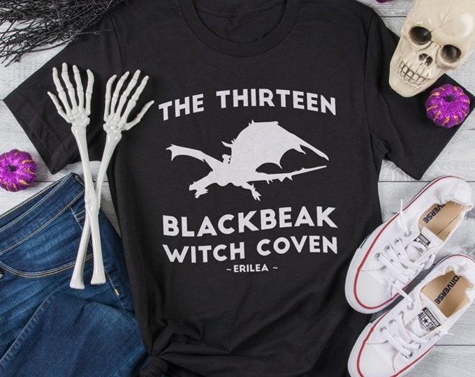Featured listing image: Throne of Glass Shirt, Manon Blackbeak, The Thirteen Blackbeak Witch Coven, Asterin Blackbeak, Irontheet Witches, Halloween Shirt, Bookish