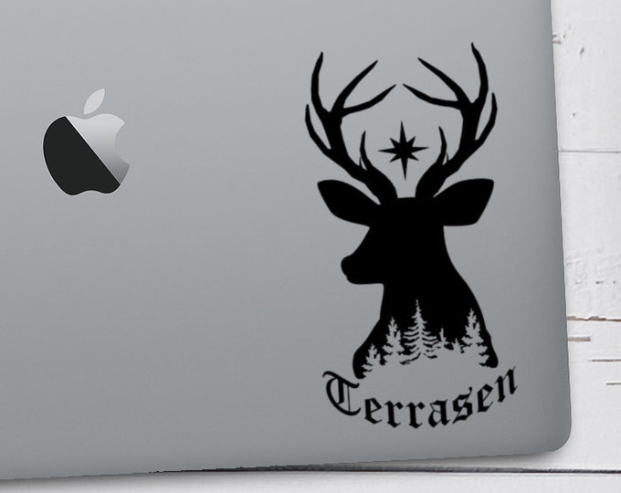 Throne of Glass Decal, Terrasen Stag, Sarah J Maas, Aelin Galathynius, Stag Lord of the North, Rowan Whitethorn