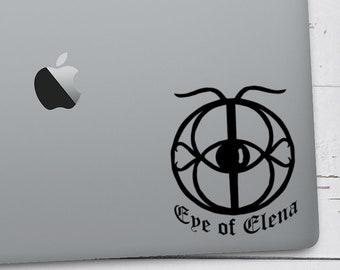 Eye of Elena Throne of Glass, Decal, Aelin Galathynius, Kingdom of Ash, Dorian Havilliard, Rowan Whitethorn, Sarah J Maas