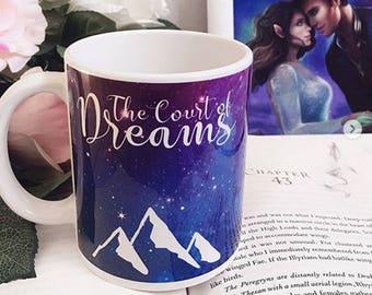 Court of Dreams ACOTAR Mug, Rhysand, Feyre, Cassian, Azriel, Coffee Mug, Night Court, Bookish Mug, Sarah J Maas, Gifts