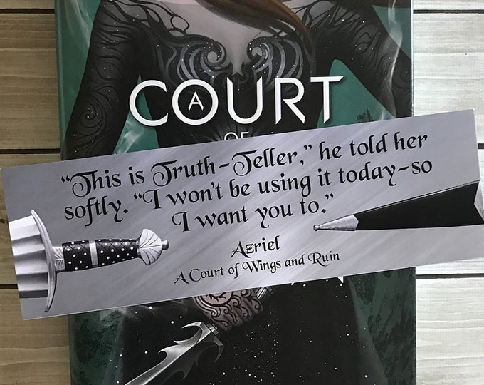 Azriel A Court of Thorns and Roses Bookmark, ACOTAR Bookmark, Illyrian Warrior, Truth-teller, Azriel and Elain, Azriel Quotes, Sarah J Mass