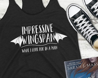 ACOMAF Impressive Wingspan Tank Top, Illyrian Wingspan, Rhysand Azriel and Cassian, A Court of Mist and Fury, Sarah J Maas