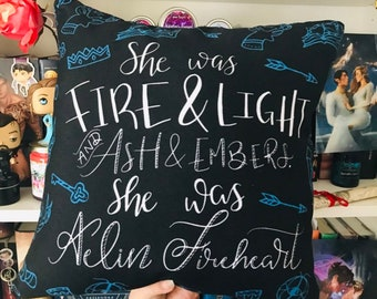 Throne of Glass Pillowcase, Aelin Ashryver Galathynius, Kingdom of Ash, Aelin Fireheart, Rowaelin, Rowan Whitethorn, Sarah J Maas