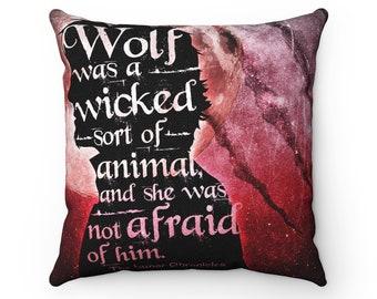 Wolf Lunar Chronicles Pillow Case, Scarlet and Wolf, Marissa Meyer
