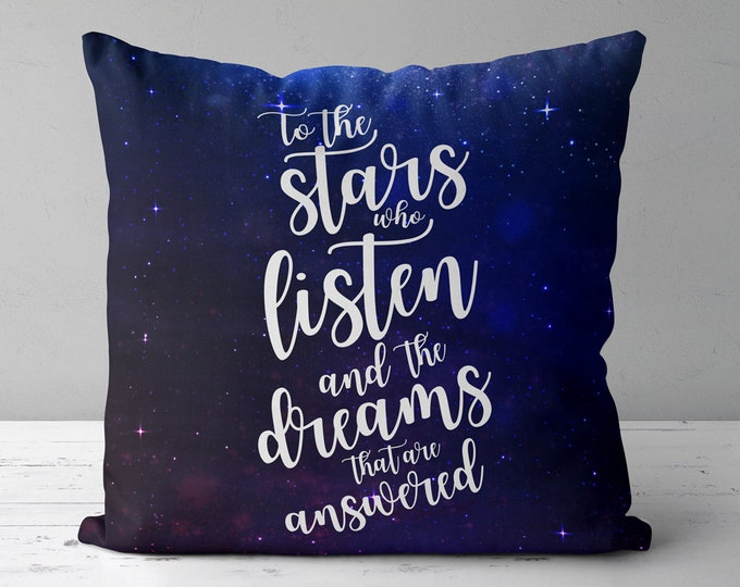 Rhysand Pillow, ACOTAR Throw Pillow, Bookish Pillow, A Court of Mist and Fury Throw Pillow, Sarah J Maas, Rhysand, Feyre, Feysand, ACOTAR