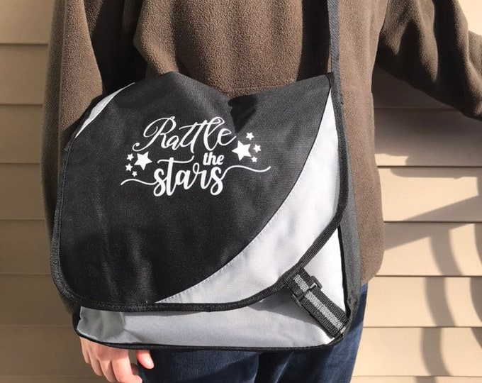 Throne of Glass Messenger Bag, Aelin, Rowan, Laptop Bag, Rattle the Stars, Kingdom of Ash, Sarah J Maas, Book Bag