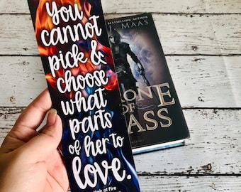 Throne of Glass Bookmark, Heir of Fire, Celaena Sardothien, Aelin Galathynius, Dorian Havilliard, Chaol Westfall, Celorian, Chaolaena, Sarah