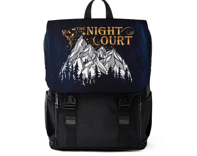 Night Court Backpack, A Court of Thorns and Roses, Rhysand, Feyre, Court of Dreams, Cassian, Azriel, Sarah J Maas, Bag, Bookish, Bookstagram