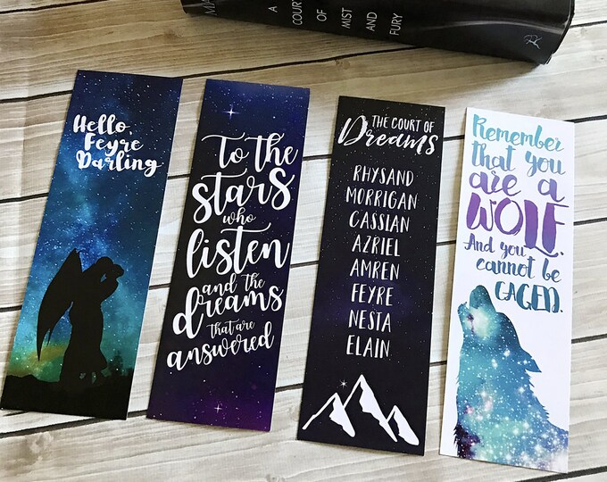 A Court of Thorns and Roses Large Bookmark Set, Rhysand, Feyre, Court of Dreams, Night Court, ACOMAF, ACOTAR, Feysand, Sarah J Maas