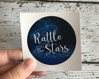 Rattle the Stars Sticker, Aelin Ashryver Galathynius, Throne of Glass, Kingdom of Ash, Sarah J Maas, Bookish