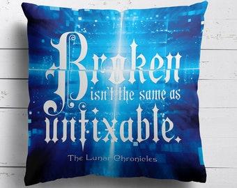 Lunar Chronicles, Pillow Case, Cinder, Scarlet, Cress, Winter, Lunar Chronicles Pillow Case, Iko, Thorne, Wolf, Pillow Cover, Marissa Meyer