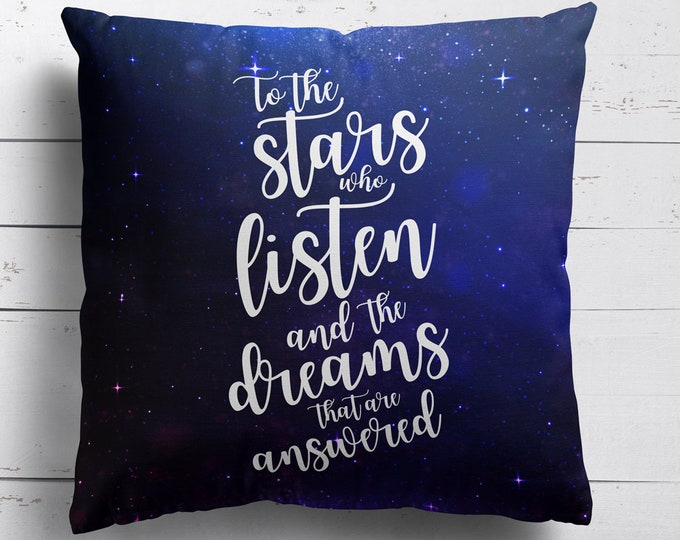 Rhysand Pillow Case, ACOTAR, Bookish Pillow Cover, A Court of Mist and Fury Merch, Sarah J Maas, ACOTAR Fandom, Bookish Gifts, ACOMAF Merch