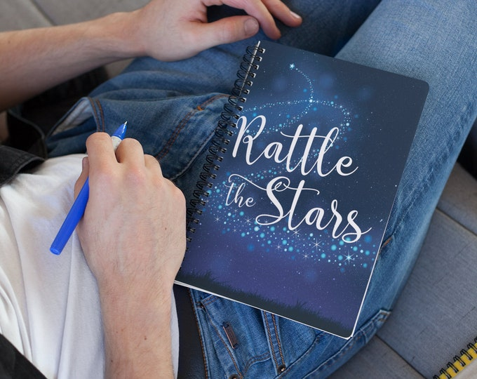 Rattle the Stars Notebook, Throne of Glass, Aelin Galathynius, Kingdom of Ash, Queen of Shadows, Empire of Storms, Sarah J Maas