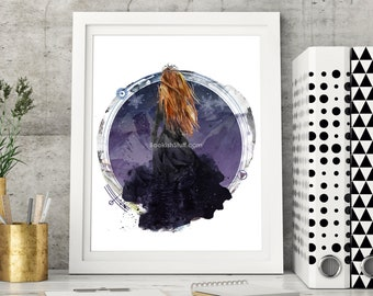 Feyre Night Court Print, A Court of Thorns and Roses, Sarah J Maas, Rhysand