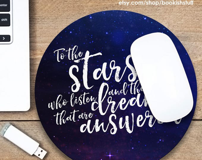 A Court of Mist and Fury Mouse Pad, Rhysand Mousepad, Quote Mouse Pad, Bookish Mouse Pad