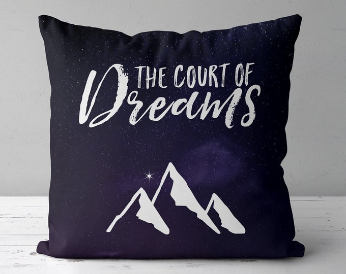 Court of Dreams Pillow, ACOTAR Throw Pillow, Night Court Pillow, Bookish Pillow, Bookish Pillow, Rhysand, Feyre, Feysand, Sarah J Maas