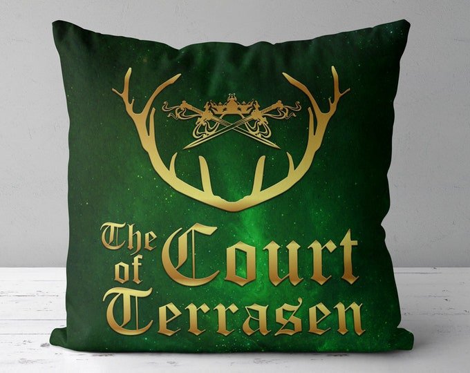 Throne of Glass Pillow, The Court of Terrasen, Aelin Ashryver Galathynius, Rowan Whitethorn, Kingdom of Ash, Empire of Storms, Rowaelin
