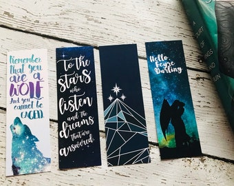 A Court of Thorns and Roses Bookmark Set, ACOMAF Bookmarks, Bookish Bookmarks, ACOWAR Bookmarks, Feysand, Feyre, Rhysand