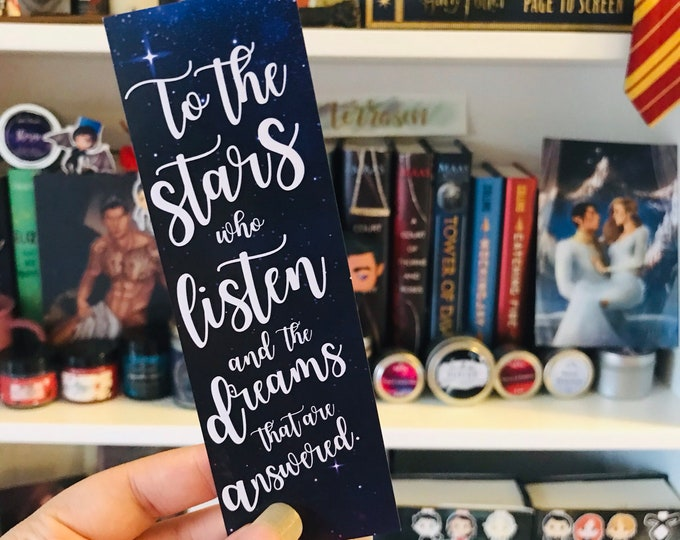 ACOTAR Bookmark, Feysand, Rhysand, Feyre, Sarah J Maas, To the stars, Court of Dreams, Bookmark, A Court of Mist and Fury, Bookish Bookmarks