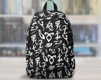 Shadowhunters Backpack, Shadowhunters Runes, The Mortal Instruments, Infernal Devices, Dark Artifices, Jace, Clary, Will, Jem, Tessa, Emma